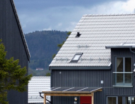 Single-family homes in Norway with roofs of Lafarge Tekkin